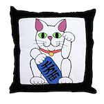 ManekiNeko Throw Pillow