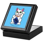 ManekiNeko Blue Keepsake Box