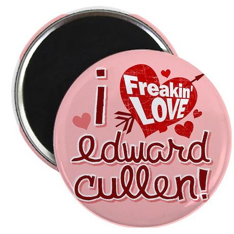 """I Freakin LOVE Edward Cullen 2.25"""" Magnet (10 pack"""
