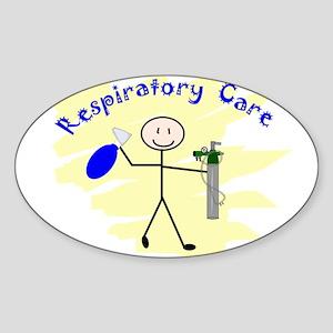 Respiratory Therapy 6 Oval Sticker