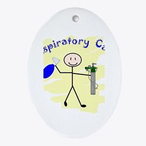 Respiratory Therapy 6 Oval Ornament
