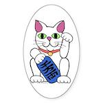 ManekiNeko Oval Sticker (50 pk)