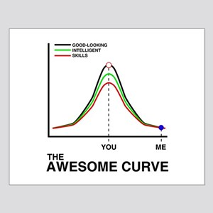The Awesome Curve Small Poster
