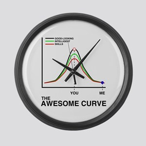 The Awesome Curve Large Wall Clock