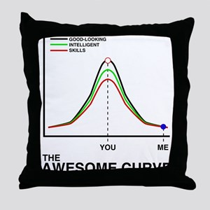 The Awesome Curve Throw Pillow