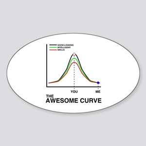 The Awesome Curve Oval Sticker
