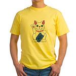 ILY Neko Cat Yellow T-Shirt
