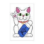 ILY Neko Cat Mini Poster Print