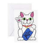 ILY Neko Cat Greeting Card