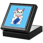 ILY Neko Cat Blue Keepsake Box