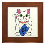 ILY Neko Cat Framed Tile