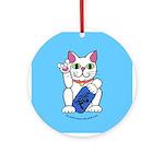 ILY Neko Cat Ornament (Round)