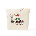 oddFrogg Twilight Peace Love Vampires Tote