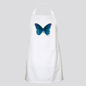 Big blue butterfly Apron