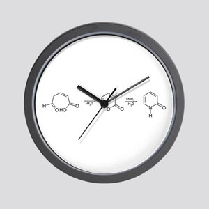 2-Pyridone Chemical Synthesis Wall Clock