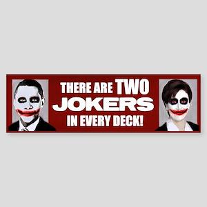 Two Jokers Bumper Sticker