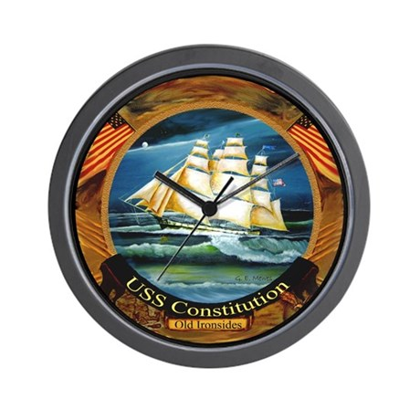 U.S.S. Constitution Old Ironsides Wall Clock