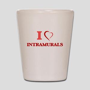 I Love Intramurals Shot Glass