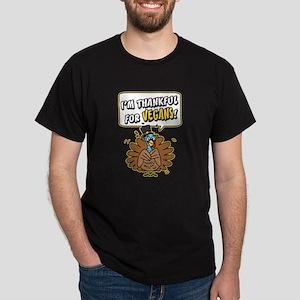 Thankful for Vegans Dark T-Shirt