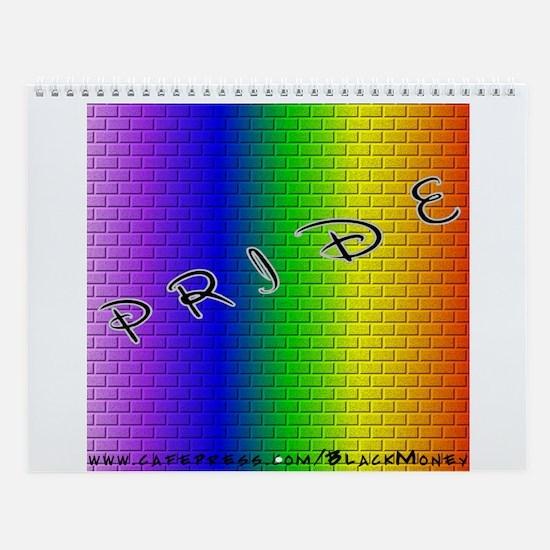 Rainbow Brick Wall Calendar
