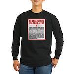 Genealogicus Vulgaris Long Sleeve Dark T-Shirt