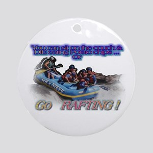 Go Rafting Ornament (Round)