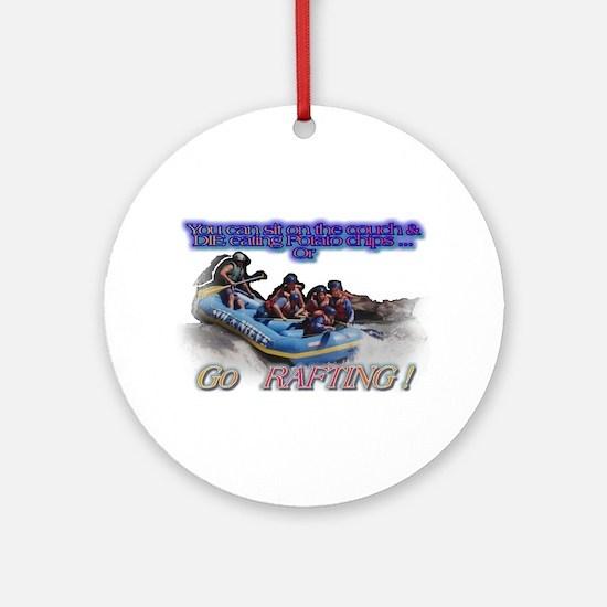 Go Rafting Ornament (Round)