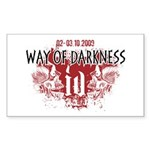 Way of Darkness Rectangle Sticker 10 pk)
