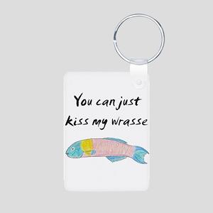 kiss my wrasse Keychains