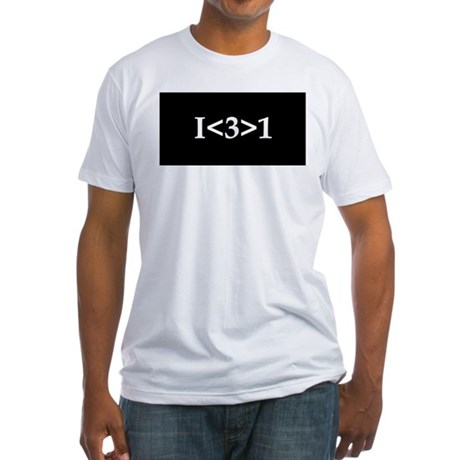 I<3>1 Fitted T-Shirt