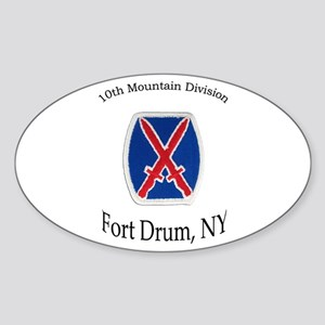 10TH MOUNTIAN DIV Oval Sticker