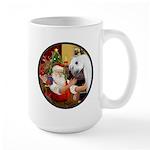 Santa/Horse (Ar-W) Large Mug