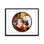 Santa/Horse (Ar-W) Framed Panel Print