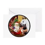 Santa/Horse (Ar-W) Greeting Cards (Pk of 20)