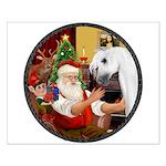 Santa/Horse (Ar-W) Small Poster