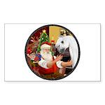 Santa/Horse (Ar-W) Rectangle Sticker