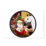 Santa/Horse (Ar-W) Postcards (Package of 8)