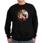 Santa/Horse (Ar-W) Sweatshirt (dark)