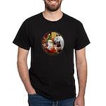 Santa/Horse (Ar-W) Dark T-Shirt