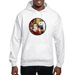 Santa/Horse (Ar-W) Hooded Sweatshirt