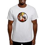 Santa/Horse (Ar-W) Light T-Shirt