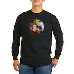 Santa/Horse (Ar-W) Long Sleeve Dark T-Shirt
