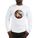 Santa/Horse (Ar-W) Long Sleeve T-Shirt