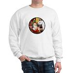 Santa/Horse (Ar-W) Sweatshirt