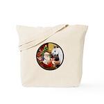 Santa/Horse (Ar-W) Tote Bag
