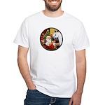 Santa/Horse (Ar-W) White T-Shirt