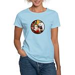 Santa/Horse (Ar-W) Women's Light T-Shirt