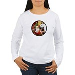 Santa/Horse (Ar-W) Women's Long Sleeve T-Shirt