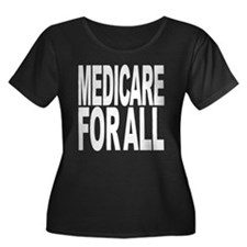 Medicare For All Women's Plus Size Scoop Neck Dark