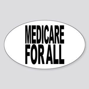 Medicare For All Oval Sticker